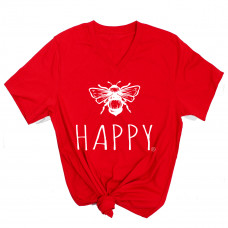 Bee Happy V-Neck