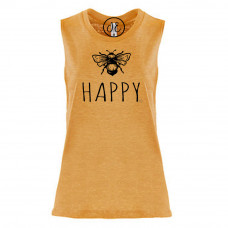 Bee Happy Festival Muscle Tank