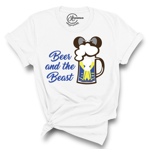 Beer and the Beast Crew Neck T-Shirt