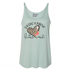 Being a Nurse is Heart Work Slouchy Tank