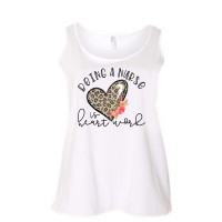 Being a Nurse is Heart Work Curvy Collection Tank