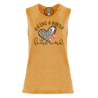 Being a Nurse is Heart Festival Muscle Tank
