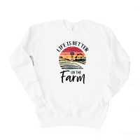 Better on the Farm Unisex Drop Sleeve Sweatshirt