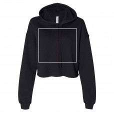 Black Women's Cropped Fleece Hoodie - BYOT