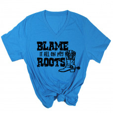 Blame it On My Roots V-Neck