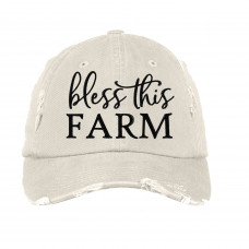Bless This Farm Embroidered Hat