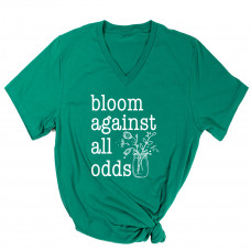 Bloom Against All Odds V-Neck - Parental Hope