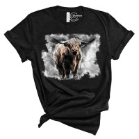 Boho Buffalo Crew Neck T-Shirt