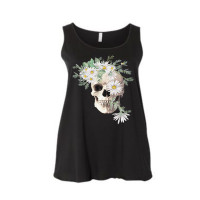 Boho White Skull Curvy Collection Tank