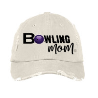 Bowling Mom Distressed Hat