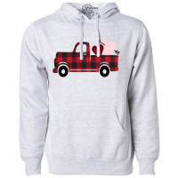 Buffalo Plaid Valentine Fleece Hoodie