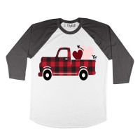 Buffalo Plaid Valentine Raglan