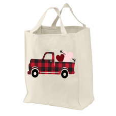 Buffalo Plaid Valentine Tote