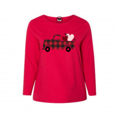 Buffalo Plaid Valentine Curvy Collection Long Sleeve