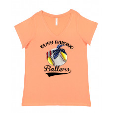 Busy Raising Ballers Curvy Collection V-Neck