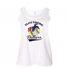 Busy Raising Ballers Curvy Collection Tank