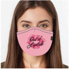 C.C. Out Of Lipstick Face Mask (Multiple Colors)