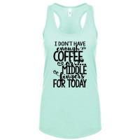 Coffee and Middle Fingers Tank Top