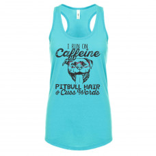 Caffeine and Pitbull Hair New Tank Top