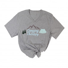 Camping Therapy V-Neck
