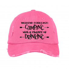 Camping Weekend Forecast Embroidered Hat