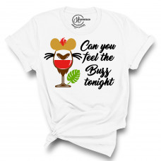 Can You Feel The Buzz Tonight Crew Neck T-Shirt