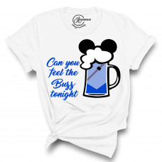 Can You Feel The Buzz Tonight Beer Crew Neck T-Shirt