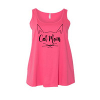 Cat Mom Women's Curvy Collection Tank