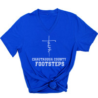 Chautauqua County Footsteps V-Neck