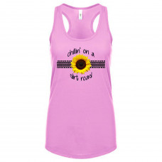 Chillin On A Dirt Road Sunflower Tank Top