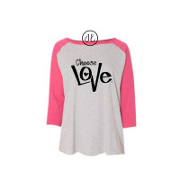 Choose Love Curvy Collection Raglan