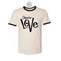 Choose Love  Jersey Ringer Tee