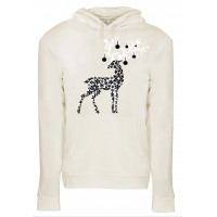 Christmas Deer Fleece Hoodie