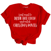 Christmas Movies and Hot Cocoa T-Shirt