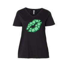 Clover Lips Curvy Collection V-Neck