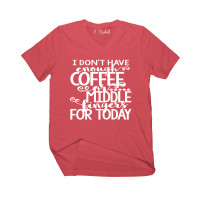 Coffee and Middle Fingers V-Neck