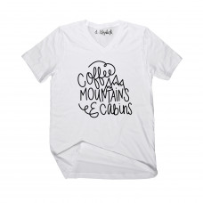 Coffee Mountains & Cabins V-Neck