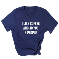 Coffee and 3 People V-Neck