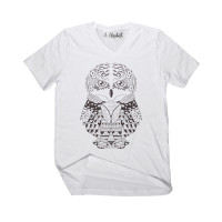 Owl Mandala 2 V-Neck -Color Your SOUL!