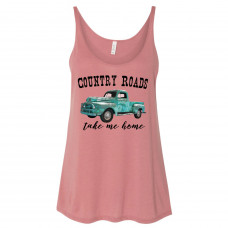 Country Roads Take Me Home Slouchy Tank