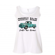 Country Roads Take Me Home Curvy Collection Tank