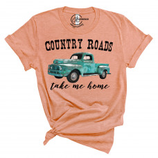 Country Roads Take Me Home Crew Neck T-Shirt