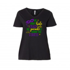 Crazy Mardi Gras Curvy Collection V-Neck
