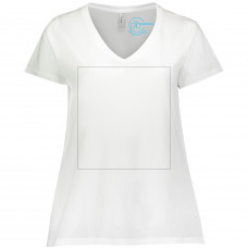 White Curvy V-Neck BYOT