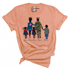 **Custom Army Family Crew New T-Shirt BYOT