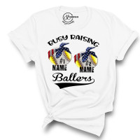 Custom Busy Raising Ballers Crew Neck T-Shirt