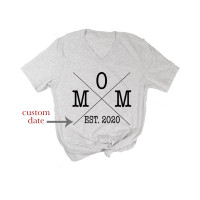 Custom Date Mom V-Neck - Parental Hope