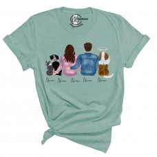 ** Custom Pets and Couples Crew Neck BYOT