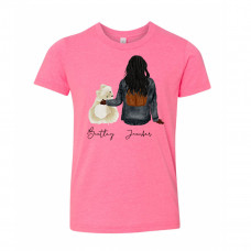 ** Custom Pets and Girls Youth Crew Neck BYOT