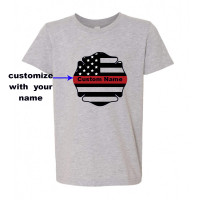 Custom Fireman Badge Youth T-Shirt
